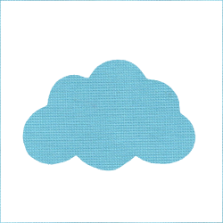 Iron-on cloud