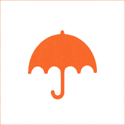 Iron-on umbrella