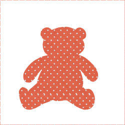 mini dots Teddy bear