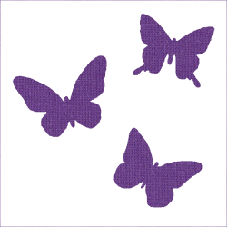Iron-on butterflies