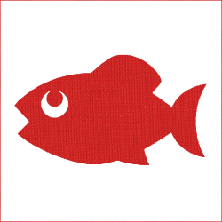 Iron-on fish