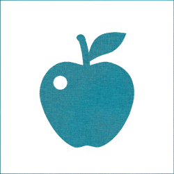 Iron-on apple