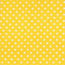 Iron-on yellow white dots
