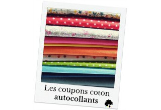 self adhesif coton sheets. Fabric stickers